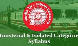 RRB Ministerial Isolated Categories(MI) Syllabus 2019-20