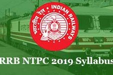 RRB NTPC 2019-2020 Syllabus & Educational Qualification