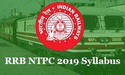 RRB NTPC 2019-2020 Syllabus & Educational Qualification