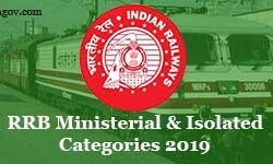 RRB MIC-Ministerial and Isolated Categories Recruitment 2019