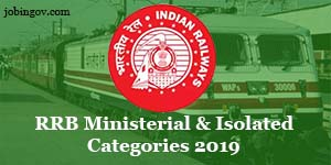 rrb ministerial isolated categories