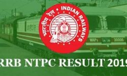 RRB NTPC Result 2019 For First Stage CBT