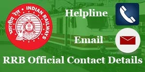 rrb official website helpline number