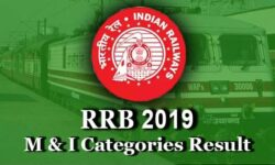 RRB Ministerial and Isolated Categories Result 2019: Download RRB MI 2019 Scorecard @indianrailways.gov.in