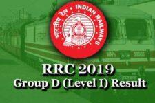 RRC Group D Result 2019 for CBT: Check Level 1 Merit List, Download Scorecard, @www.indianrailways.gov.in