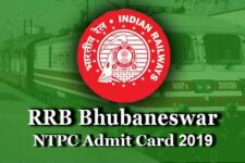 RRB Bhubaneswar NTPC Admit Card 2020 for CBT 1, CBT 2, Skill Test and DV (rrbbbs.gov.in)