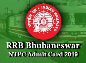 rrb bhubaneswar ntpc admit card 2019 for first stage cbt