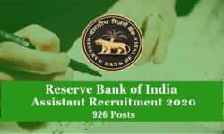 RBI Assistant Recruitment 2020: Apply Online for 926 Vacancies(rbi.org.in)