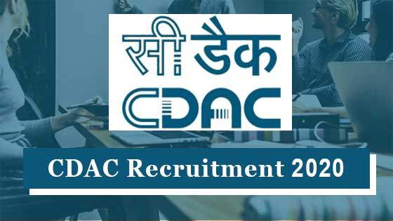 cdac-recruitment-2020