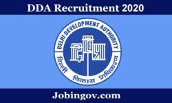 DDA Recruitment 2020: Apply Online for 629 Vacancies