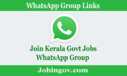Kerala Government Jobs WhatsApp Group Link 2021