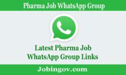 Pharma Job WhatsApp Group Link 2021