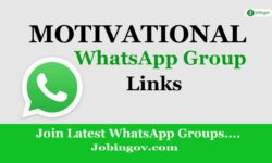 Motivational WhatsApp Group Links 2021