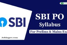 SBI PO Syllabus 2020 for Preliminary & Main Exam – Download PDF