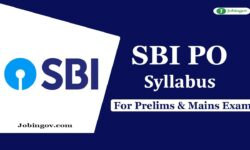 SBI PO Syllabus 2020 for Preliminary & Main Exam – Download PDF