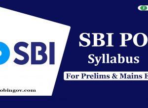 sbi-po-syllabus-2020