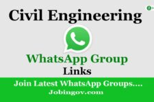 Civil Engineering WhatsApp Group Links 2020