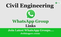 Civil Engineering WhatsApp Group Links 2021