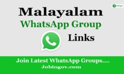 Malayalam WhatsApp Group Links 2021
