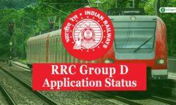 Railway RRB RRC Group D Application Status 2019-20