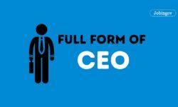 CEO Full Form, Eligibility Criteria, Skills, Salary