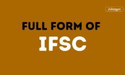 IFSC Full Form