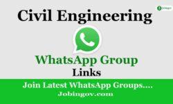 Civil Engineering WhatsApp Group Links 2021