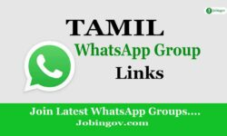 Tamil WhatsApp Group Links 2021